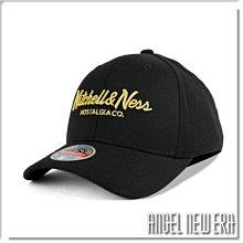 【ANGEL NEW ERA】Mitchell & Ness MN 經典排字 黑金配色 老帽 有彈性 可調式 潮流