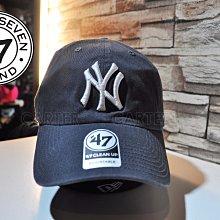 """47 Brand MLB NY Yankees  """"Clean Up"""" 肆拾柒品牌紐約洋基棉復古感水洗可調老帽"""