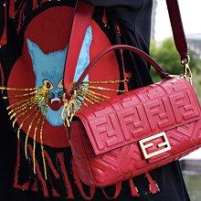 Fendi 8BR600 Baguette shoulder bag FF 法棍肩背包 紅 26 cm 現貨