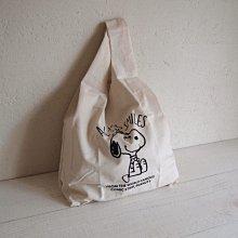 《散步生活雜貨》日本進口 PEANUTS - SNOOPY 史努比 100%棉 帆布袋 購物袋 隨身袋