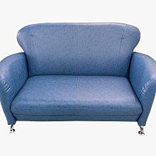 【宏品二手家具館】全新中古傢俱 EA241-7BD*全新小丸子藍色雙人皮沙發*全新庫存中古家具買賣專業 沙發 茶几