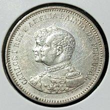 1898年葡萄牙 200里拉銀幣 Au品項
