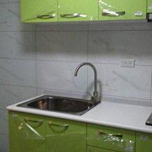 名雅歐化廚具190公分美耐檯面+上櫃F1木心桶身+下櫃F1木心桶身+四面封美耐門板
