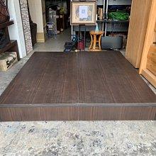 香榭二手家具*胡桃色 雙人加大6x6.2尺床箱-床板-床架-單人床-床框-床底-床台-床組-中古床-床座-2手貨-套房床