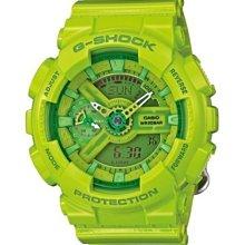 【美國鞋校】現貨 CASIO G-Shock GMA-S110CC-3A 手錶 芥末綠 果凍 綠 GMA-S110CC
