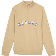 【MASS】STUSSY  QUARTER ZIP MOCK NECK 卡其 / 黑色 S M L