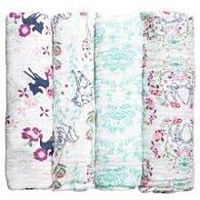 美國aden+anais swaddle雙層紗布包巾 迪士尼斑比小鹿 小熊維尼 新生兒包巾 推車遮陽透氣蓋毯