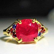 【艾琳珠寶藝術】已售台南邱先生,金工訂製款,GIA 天然紅寶石4.33 CT,緬甸,鴿血紅,18黃k金戒指