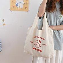 Cheri 韓國設計可愛小女孩青春少女帆布包 *圖片色* 社團商品【G0415-05】