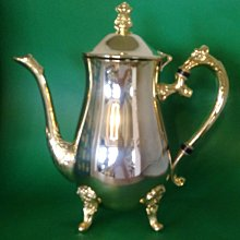 273 高級歐洲鍍金壺 Gold Plated Ornate Etched Coffee Pot