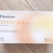 日本製造口罩 麥迪康 Medicom 50入原裝 橘色 三文魚 橘條文 日本原裝 成人彩色