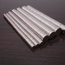 強力磁鐵 直徑D8mmx1mm鍍鎳【好磁多】專業磁鐵銷售
