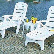 ~可折式塑膠躺椅~