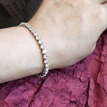 三爪鑽石手鍊特價出清韓版時尚搭手錶鑽石十星十箭高碳鑽真鑽925銀包鉑金質感手鏈女款 個性甜美飾品 送女友愛人禮物鑽寶熱賣