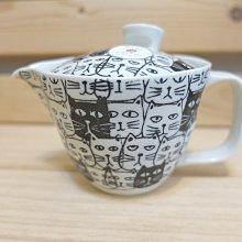 《散步生活雜貨-廚房散步》日本製 有田燒 貓咪圖案 一人用 濾茶壺 濾茶杯 (附濾網)85415