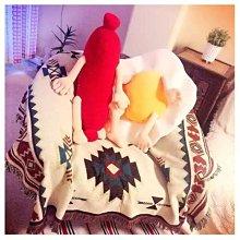 一組2個 荷包蛋君&香腸君 香腸熱狗靠墊抱枕坐墊