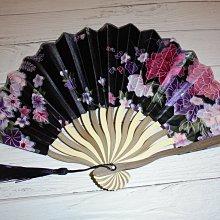 漂亮 竹製 (黑)日式風格 摺疊扇子 夏季手扇