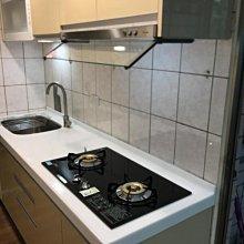 名雅歐化廚具210公分韓國石檯面+上櫃F1木心桶身+下櫃F1木心桶身+五面封結晶門板
