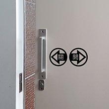 玩花樣~左右滑門,自動滑門,手動滑門,拉門標示貼紙,滑門方向貼紙(編號1.2. 每組50元)