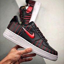 Nike Air Force 1 Jewel Low 黑紅 小勾 皮革 明星賽 低幫 滑板鞋 CU6359-001 女鞋