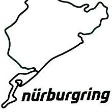 紐柏林原裝正品貼紙 12cm Nurburgring original product