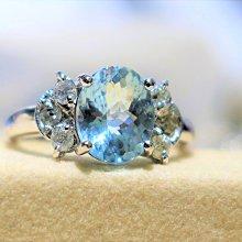 【艾琳珠寶藝術】天然無燒海水藍寶石1.70克拉鑽戒,閃耀海水藍,未加熱處理--預約訂製款