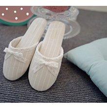 【遇見美好雜貨】A80502蕾絲蝴蝶结素色家居室內拖鞋