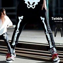 『現貨』《男女》個性街舞3M反光骨架 休閒褲 運動潮褲【JA0037】- 崔可小姐