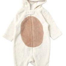 Ginny媽咪【mothercare】官網正品厚款棉絨連帽包腳連身衣兔裝小熊造型服6-9M現貨