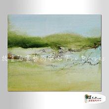 【放畫藝術】名家抽象37 純手繪 油畫 橫幅 綠色 冷色系 無框畫 名畫 線條 現代抽象 近代名家 大師作品