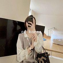 氣質立領繫帶喇叭袖雪紡襯衫 CC KOREA ~ Q33017