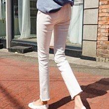 不透膚白色 可以劈腿的超彈力九分褲 萌蔓物語 【KF0011】韓氣質女褲子