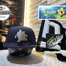 New Era x SpongeBob SquarePants 9Fifty海綿寶寶聯名logo白全頂環保回收材質後扣帽