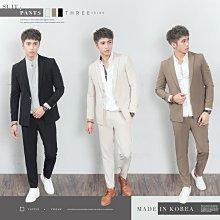 。SW。【K31193】正韓KE韓國製 修身顯瘦 質感琥珀扣 彈性萊卡西裝布 窄版雅痞 側口袋 素面成套西裝 英倫GD