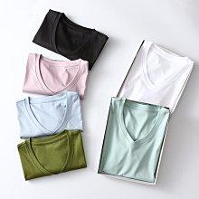 BEFE時尚精品 超級推薦 絲光棉 圓/ V領短袖T恤  純色親膚 80支高克重  促銷