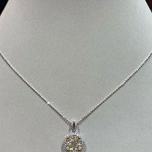 1.57克拉天然淡彩彩鑽鑽石項鍊,5克拉視覺放大效果超閃亮,加贈14K金項鍊,超值出清優惠價69800元,只有一個賣掉就沒有了