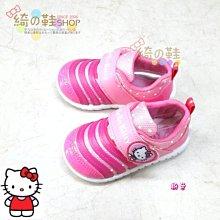 ☆綺的鞋鋪子☆新款上市【凱蒂貓】HELLO KITTY 718 粉色 717 女童休閒鞋 魔鬼粘布鞋台灣製造 MIT╭☆