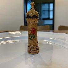 Vintage box's   BULGARI手工雕刻的木製香水瓶/小瓶