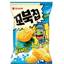 韓國好麗友烏龜餅。玉米濃湯原味。麻辣味。烤麻薯味。海苔口味。