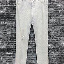 "Maple麋鹿小舖 美國品牌LOFT  * 淺色直條紋洗舊風刷破牛仔褲* ( 現貨""26/2""號 )"