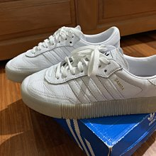 adidas 休閒鞋 Sambarose 厚底 穿搭 愛迪達 基本 明星款 鬆糕鞋 皮革 球鞋 白 女鞋