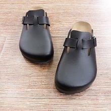 大尺碼35-44男女都可穿勃肯拖鞋 MIT台灣製 前包後空舒適機能真皮彈力鞋墊伯肯厚底拖鞋 涼鞋-IP shoes