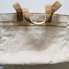 MICHEL KLEIN   100%COTTON天然純棉  厚質帆布  優雅時尚具品味的上班族女性提包