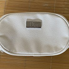Dior正品白色圓型化妝包20x12