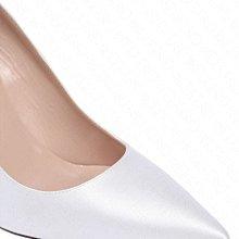 【WEEKEND】 Sarah Jessica Parker SJP Fawn 緞面 高跟鞋 白色