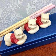 日本 小熊維尼 造型公仔 陶瓷 筷架 筷托 擺飾 筷子架筆架 餐具 食器 winnie 維尼 維尼熊 生日禮物
