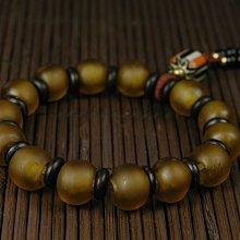 藏珠物流中心***棕色琉璃*尼泊爾女款手鍊☆D527☆