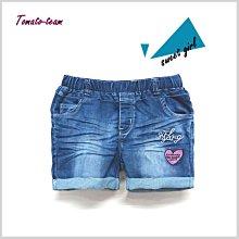 《蕃茄丁》130~160CM//粉色愛心刺繡 ‧ 刷洗色牛仔短褲【GH32937】//中大女童