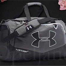 美國真品 UA Under Armour 安德瑪 男女適用灰色防水出國 運動包 斜背包 肩背包 手提包 愛COACH包包