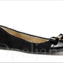Coach Flat Shoes 黑色亮面真皮蝴蝶結裝飾百搭低跟懶人鞋娃娃鞋休閒鞋包鞋7號 24號 免運費 愛Coac